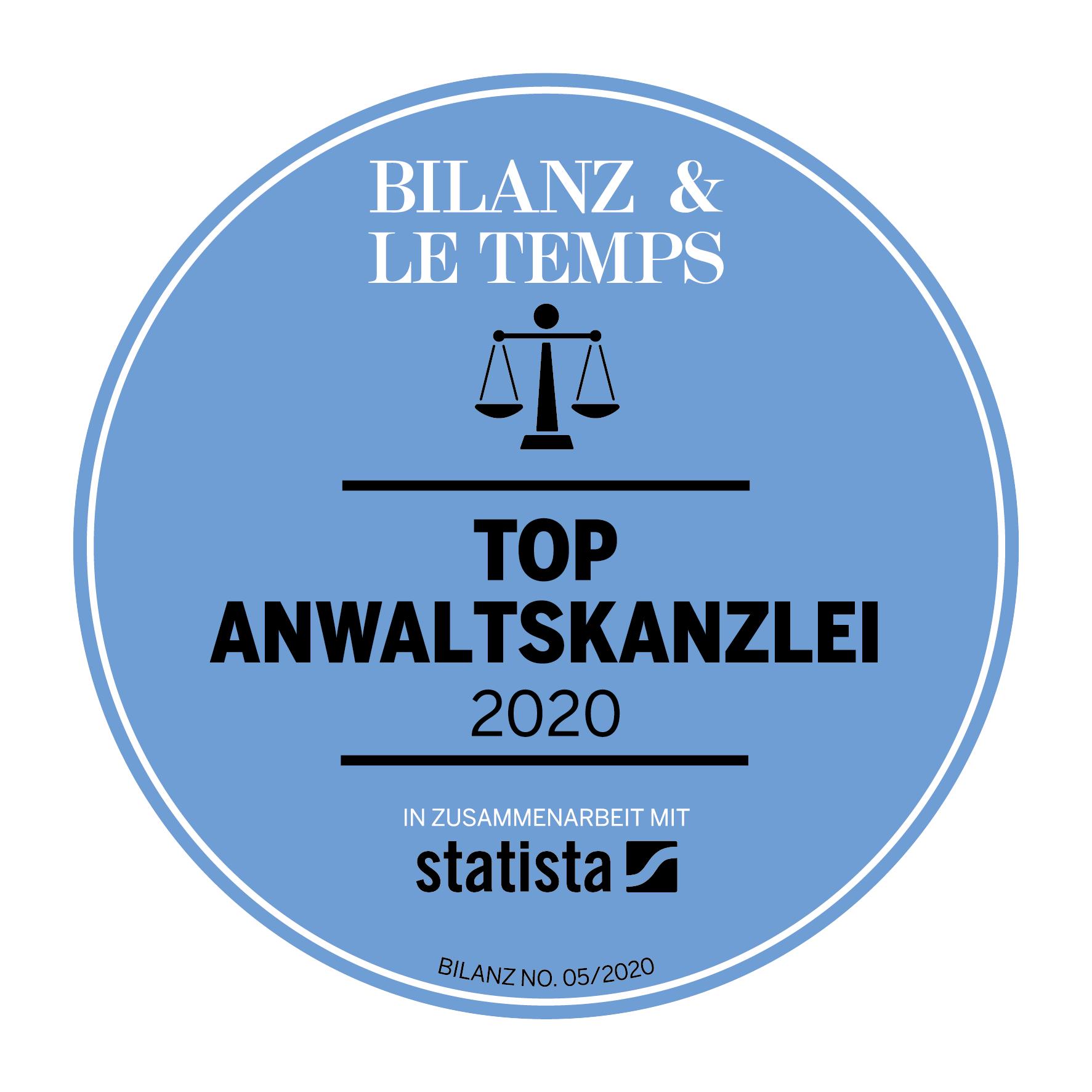 Bilanz Top Anwaltskanslei 2020